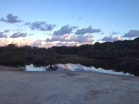 Lake on the headland